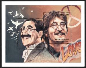 ABKHAZIA RUSSIA Stamps Postage JOHN LENNON The BEATLES Sheet GROUCHO MARX MNH