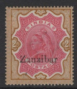 ZANZIBAR SG19 1895 2r CARMINE & YELLOW-BROWN MTD MINT