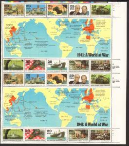 US #2559 Mint Sheet 1941: A World at War
