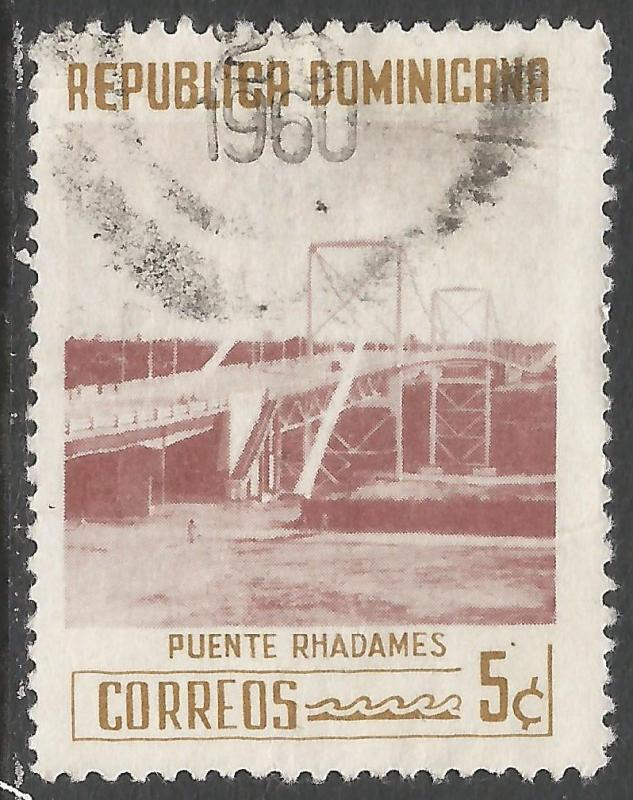 DOMINICAN REPUBLIC 521 VFU BRIDGE 541G-5