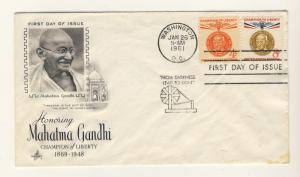 US - 1961 - Scott 1174, 1175 FDC - Mahatma Gandhi, Champion of Liberty