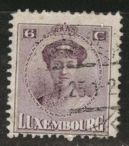 Luxembourg Scott 133 Used from 1921-26 set
