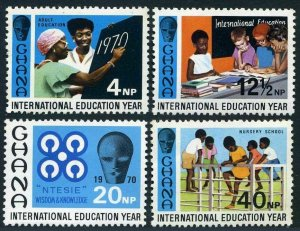 Ghana 390-393 block/4,MNH.Michel 401-404. Educational Year IEY-1970.