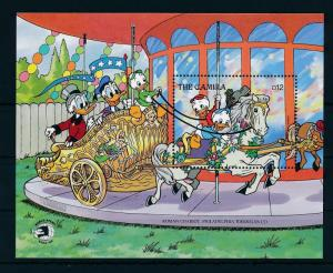 [22358] Gambia 1989 Disney Characters Carousel house MNH