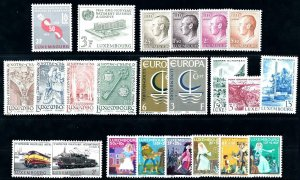 Luxembourg Luxemburg 1966 Complete Year Set MNH