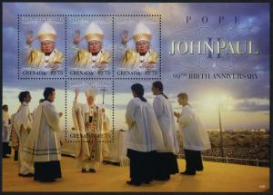 Grenada 3770 MNH Pope John Paul II 90th Birthday