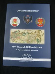 KOHLER AUCTION CATALOGUE 2012 'RUSSIAN HERITAGE'