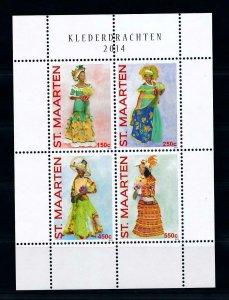 [SM234] St. Martin Maarten 2014 Costumes  Miniature Sheet MNH