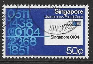 SINGAPORE SG351 1979 50c POST CODE PUBLICTY FINE USED