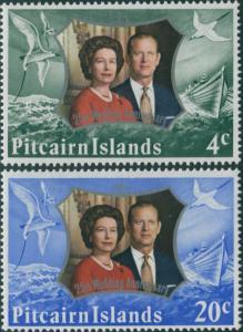 Pitcairn Islands 1972 SG124-125 Royal Silver Wedding set MNH