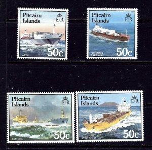 Pitcairn Is 258-61 MNH 1985 Ships