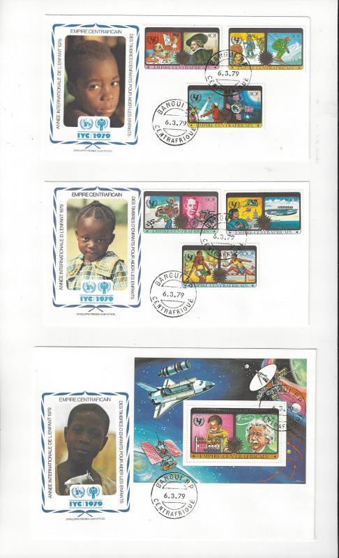 Central Africa  FDC 1979 International Year of the Child Official Cachet