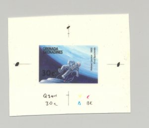 Grenada Grenadines #879 Astronaut, Space 1v Imperf Chromalin Proof