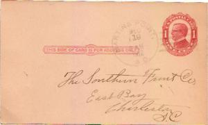 United States South Carolina Martins Point 1912 4a-bar  1900-1939  Postal Card.