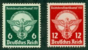 Germany #490-491  Mint VF NH  Scott $20.00