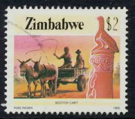 Zimbabwe SG 679  SC# 513  Used   Scoth Cart  see detail and scan