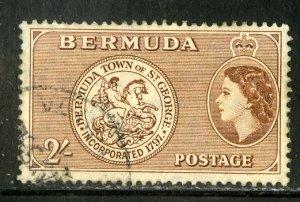 BERMUDA 158 USED SCV $1.10 BIN .50 ST GEORGE