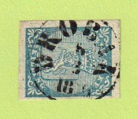 NOR SC #1 1855 Coat of Arms 4 margins w/SON (DROBAK / 3-8-18(?)6), CV $165.00