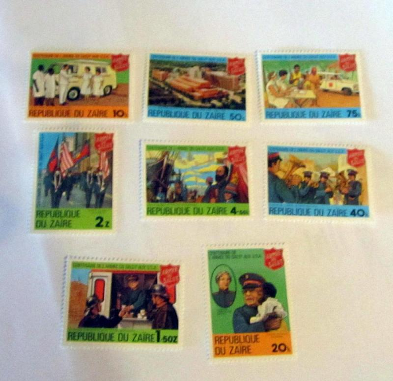 Zaire - 960-67, MNH Set. Salvation Army Cent. SCV - $4.60