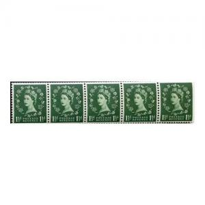 1 1/2d Green Spec S26Q Flaw Over O of Postage U/M