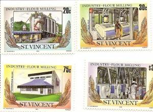 St. Vincent MNH 882-5 Flour Milling