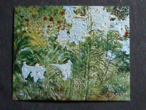 BHUTAN STAMP-COLORFUL OIL PAINTING STAMP-LOVELY FLOWER MINT STAMP- VERY FINE