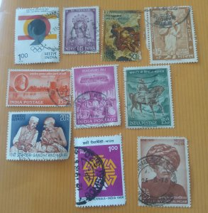 N))......Republic India. Used different  10 stamps