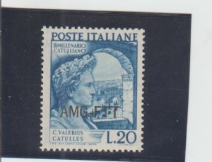 Trieste  Scott#  56  MH  (1949 Overprinted)