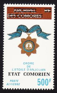 Comoro Is. Overprint 'Etat Comorien' on 500 Fr D1 SC#C95 MI#211