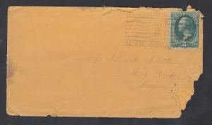 US 1881 Elmwood MI Cover. Only known example of this postmark.