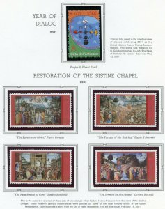 VATICAN CITY 2001  COMPLETE YEAR SET STAMPS WITH BOOKLET MINT NH ON  ALBUM PAGES
