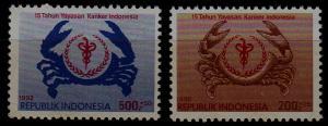 Indonesia B234-35 MNH Cancer SCV1.50