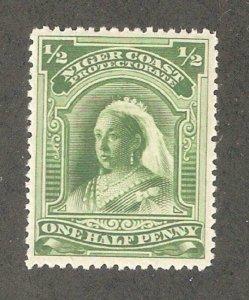 Niger Coast 1894,Queen Victoria, 1/2p, Scott # 43,VF Mint Hinged* (N-2)