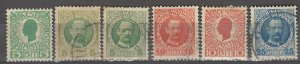 COLLECTION LOT # 3886 DANISH WEST INDIES 6 STAMPS 1905+ CLEARANCE CV+$15