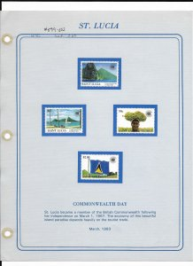 St Lucia # 599-602 Mint Hinged