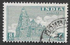 India Scott #216 8A Kandarya Mahadeva Temple (1949) Used