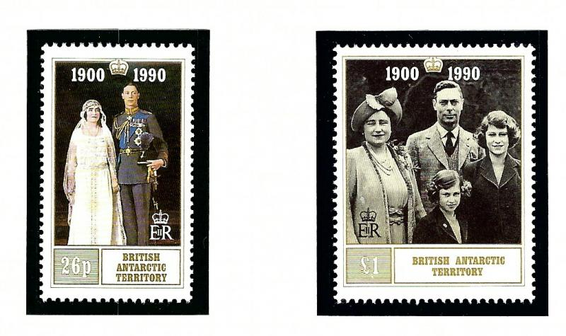 British Antarctic Territory 170-71 MNH 1990 Queen Mother 90th Birthday