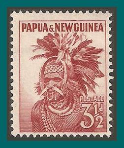 Papua New Guinea 1952 Headdress, MLH 127,SG6