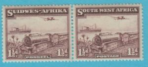 SOUTH WEST AFRICA 110  MINT HINGED PAIR OG * NO FAULTS VERY FINE!
