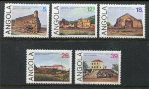 Angola 696-700, MNH, Monuments Museum 5v 1985   x29184