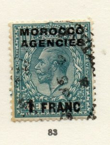 Morocco Agencies 1920s-30s Early Issue Fine Used 1F. Optd Surcharged NW-169082
