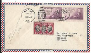 United States, 703, 737, Postal History Air Mail Cover, Used