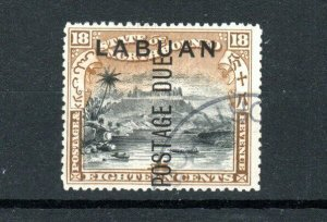 North Borneo - Labuan 1901 18c Postage Due opt FU CDS