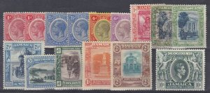 BC998) Jamaica small Mint selection: 1912-20 KGV values to 6d, 1919-21 wmk Mult