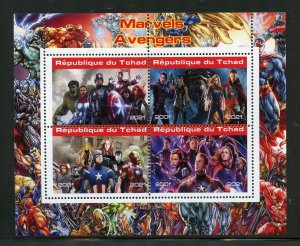 Chad 2021 Marvel's Avengers sheet mint nh