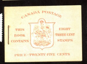 Canada #251a MINT Booklet VF NH Cat$13+