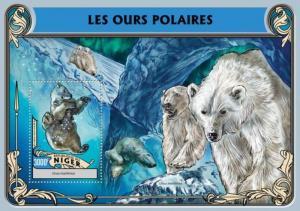 Niger - 2016 Polar Bears on Stamps - Stamp Souvenir Sheet - NIG16313b