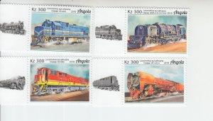 2019 Angola African Trains (4) (Scott NA) MNH