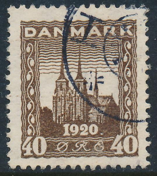 Denmark Scott 158 (AFA 114), 40ø brown Re-Unification, VF U