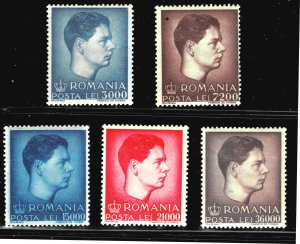 Romania 646-650 - MH